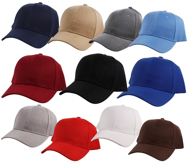 d50060d63fe Details about Plain Curved Bill Visor Peak Strap Back Baseball Cap Hat  Adjustable Strapback