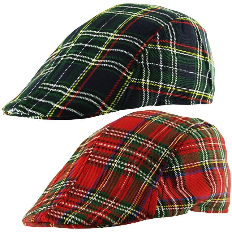 YOUTH KIDS Lumberjack Check Baker Boy Newsboy Country Cabbie Flat Cap Hat