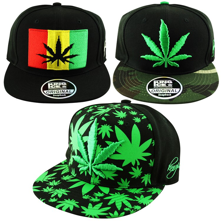 39dd22255dd Men s Rasta Weed Flag Leaf Camo Flat Peak All Over Snapback Cap ...